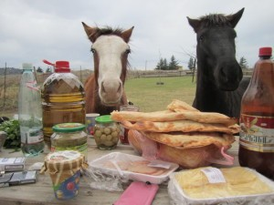 Лошади за столом